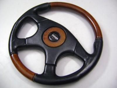 Momo Wood Half Leather Original Steering Wheel