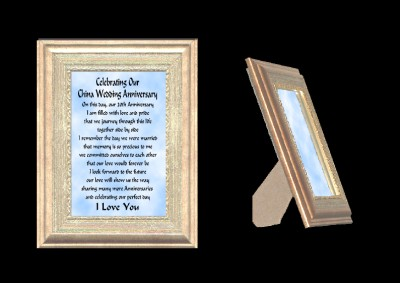Details about OUR 20TH WEDDING ANNIVERSARY GIFT FRAME, HUSBAND & WIFE