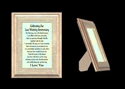 Details about OUR 13TH WEDDING ANNIVERSARY GIFT FRAME, HUSBAND & WIFE