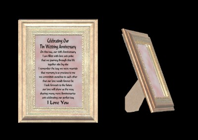 10th Wedding Anniversary Gift Husband : Details about OUR 10TH WEDDING ANNIVERSARY GIFT FRAME, HUSBAND & WIFE