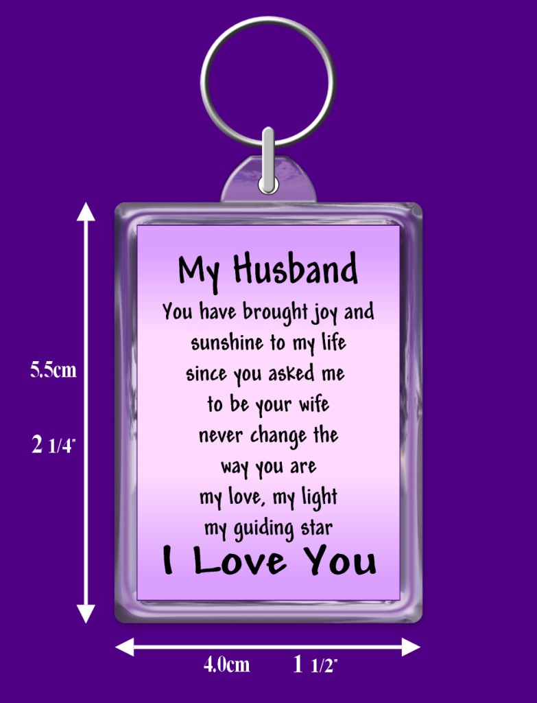Online Gift For Husband On Wedding Night : Husband Verse Keyring - Birthday - I Love You - Special Keepsake Gift ...