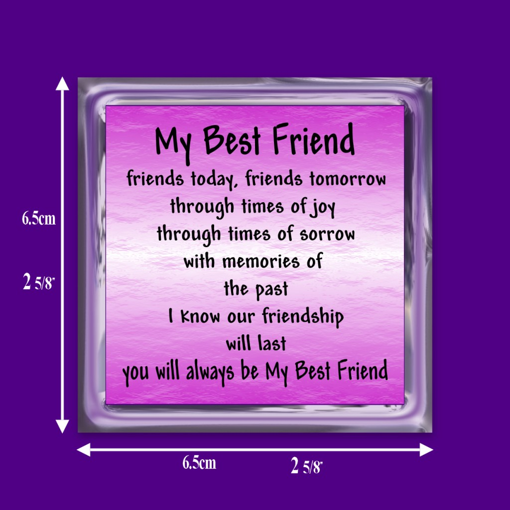 Details about BEST FRIEND VERSE FRIDGE MAGNET FRIENDSHIP GIFT