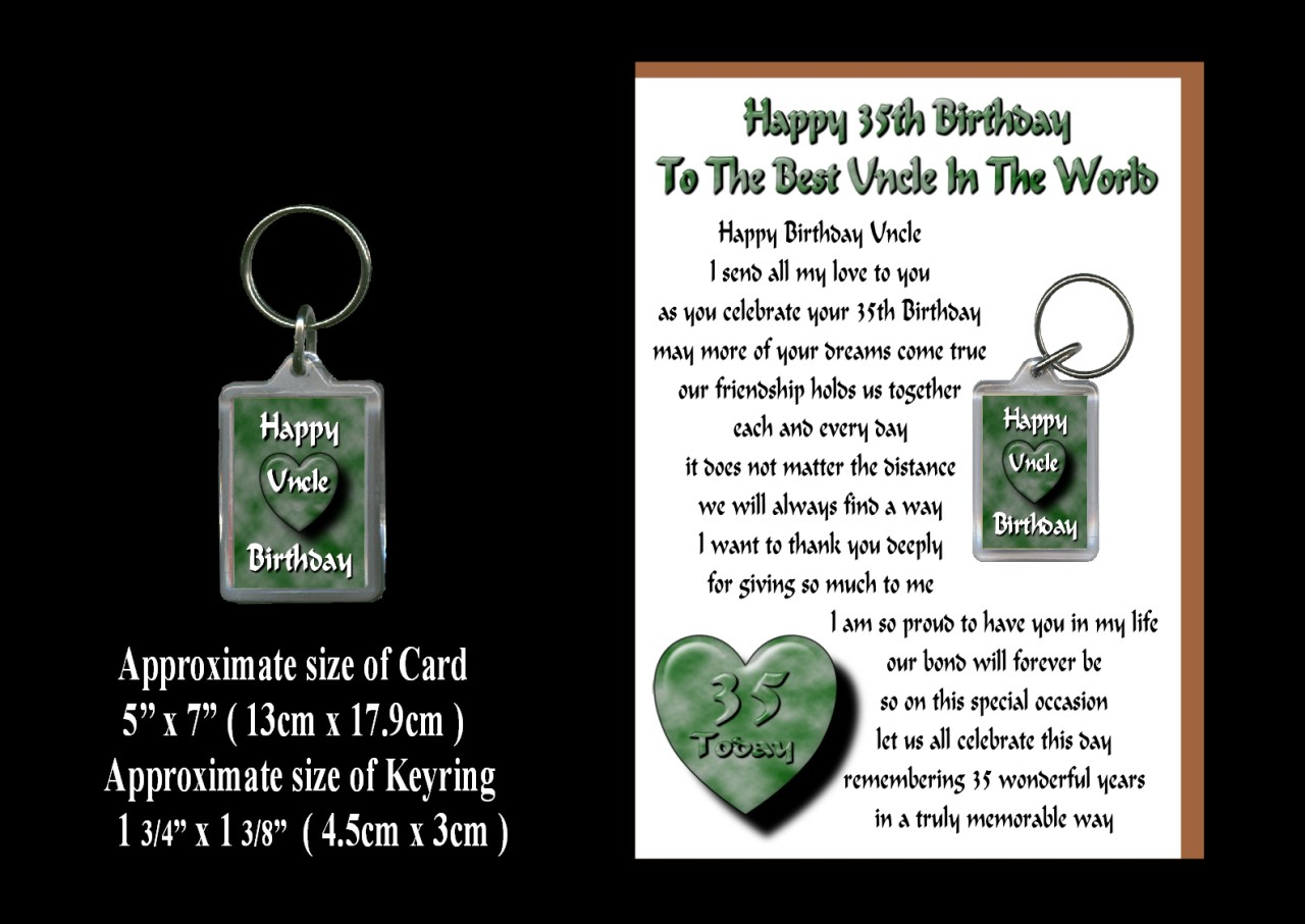 Details about HAPPY BIRTHDAY UNCLE AGES 21 TO 100 CARD & KEYRING GIFT