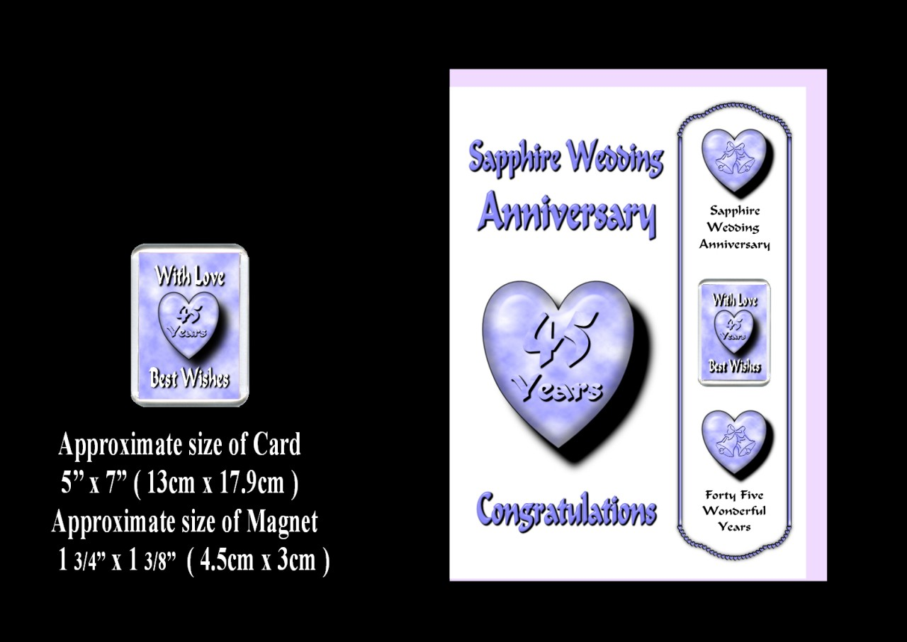... TO 70TH WEDDING ANNIVERSARY CARD & MAGNET GIFT FOR FAMILY & FRIENDS