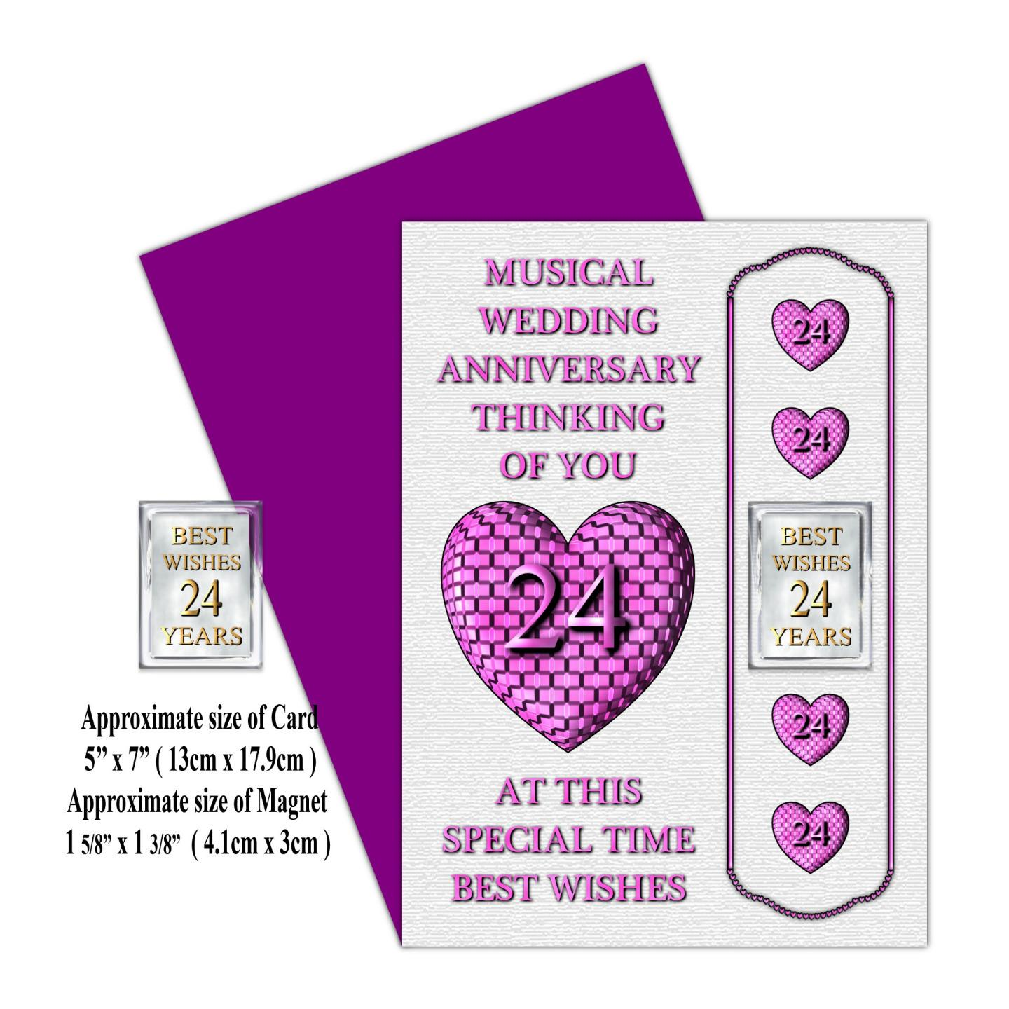 1ST-TO-24TH-WEDDING-ANNIVERSARY-CARD-MAGNET-GIFT-FOR-FAMILY-FRIENDS