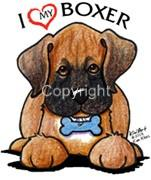 Boxer-Dog-Ladies-Tshirt-Nightshirt-7411-Kiniart