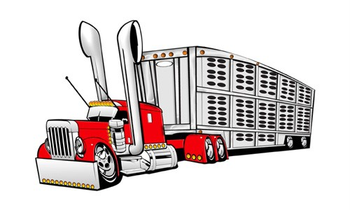 cattle trailer coloring pages - photo#30