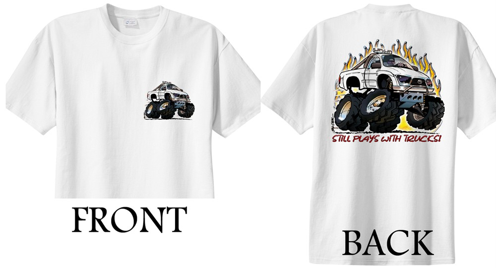 Toyota Tacoma 4x4 Cartoon T-shirt #4084 dave deal off road ...