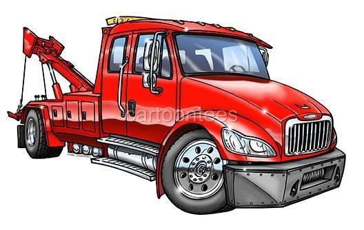 Tow Truck Cartoon Tshirt 0576 Ga Ford Rescue Car Auto