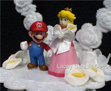 Pin Kissing Mario And Princess Peach Wedding Cake Topper Ebay Cake On Pinterest