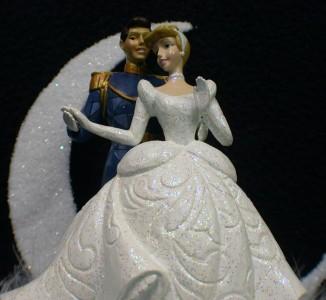 Disney Blown Glass Wedding Cake Toppers