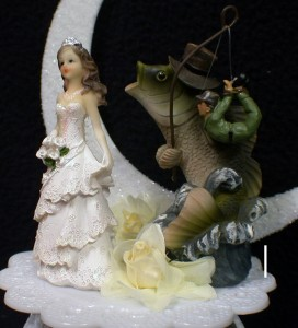 FISHING Fish Funny Bride WEDDING CAKE TOPPER Groom TOP EBay