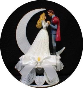 Disney SLEEPING BEAUTY Wedding Cake Topper LOT Glasses Knife Guest Book Garter 2