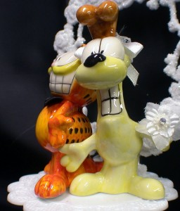 Garfield & Odie Wedding Cake Topper Groom top Cat Dog ...