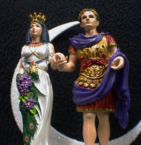 with Marc Antony Queen & King Ancient Egypt Wedding cake topper top
