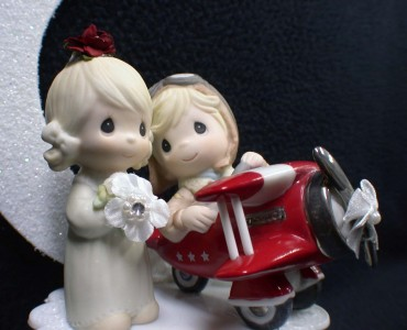 Airplane Pilot Precious Moments Wedding Cake Topper