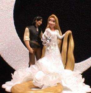 Rapunzel From Disney Tangled Prince Charming Wedding Cake Topper Fariytale