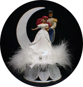 disney princess little mermaid prince eric wedding cake topper fariytale white ebay. Black Bedroom Furniture Sets. Home Design Ideas