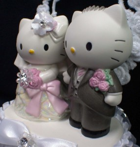 HELLO KITTY Daniel Cat SANRIO Wedding Cake Topper Gift