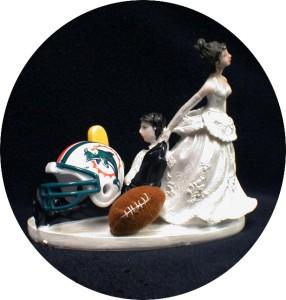 Nfl Miami Dolphins Football Wedding Cake Topper