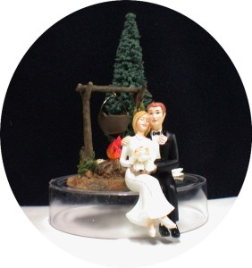 Camping Fire Wedding Cake Topper