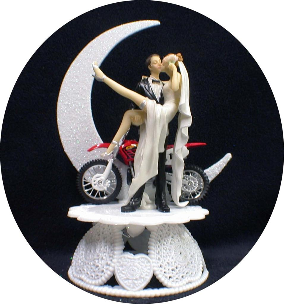 Road Bike Wedding Cake Topper