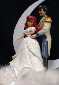 disney little mermaid prince fairytale wedding cake topper lot glasses server p ebay. Black Bedroom Furniture Sets. Home Design Ideas