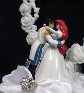 little mermaid princess arial prince eric wedding cake topper diney fairytale ebay. Black Bedroom Furniture Sets. Home Design Ideas