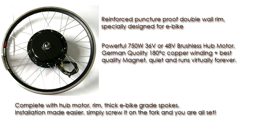 750w hi speed electric bicycle e bike hub motor conversion for Best bike hub motor