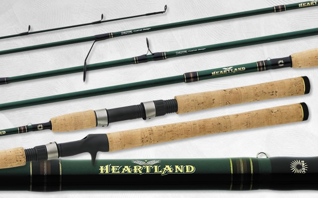 Daiwa heartland 6 39 6 medium spinning rod walleye w661mxs for Walleye fishing pole