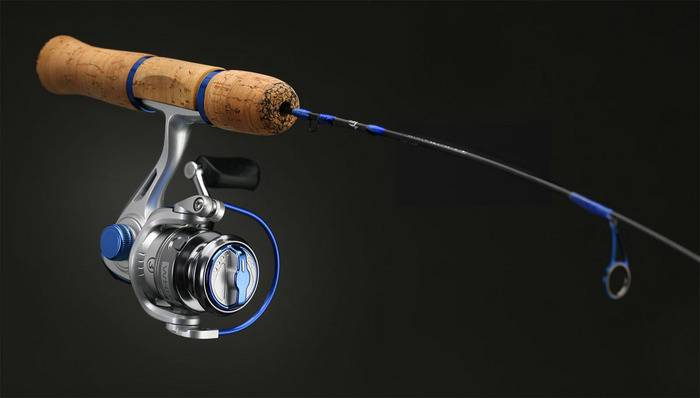 13 fishing white noise ice rod reel combo 27 ultra light for Ice fishing rod and reel combo