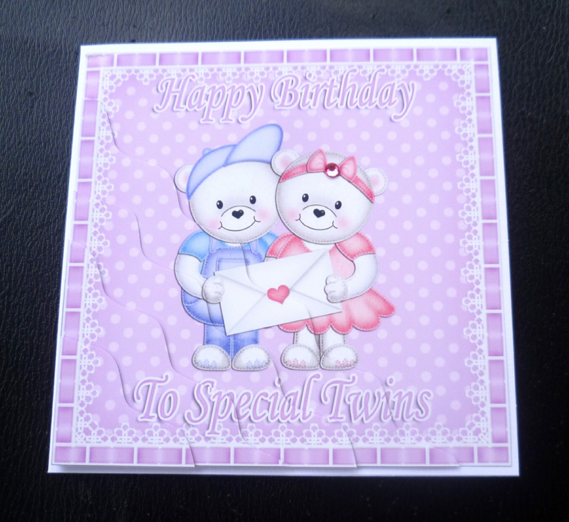 to special twins teddies birthday card  boys, girls or boy amp, Birthday card