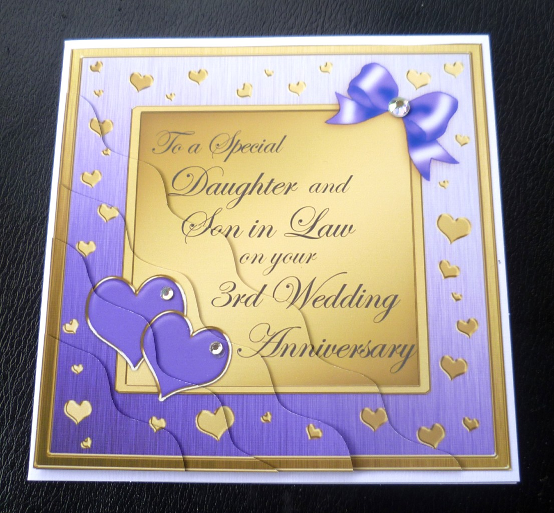 Daughter Amp Son In Law 3rd Wedding Anniversary