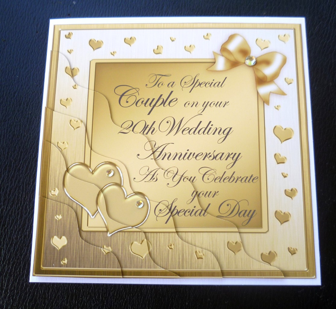 Special Couple 20th Wedding Anniversary Card