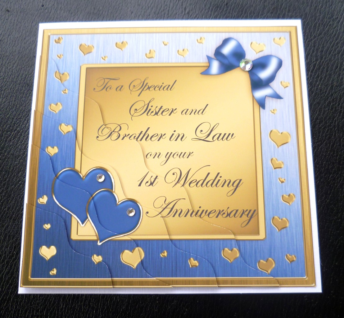 1st Wedding Anniversary Gift For Sister : Details about Sister & Brother In Law 1st Wedding Anniversary Card - 4 ...