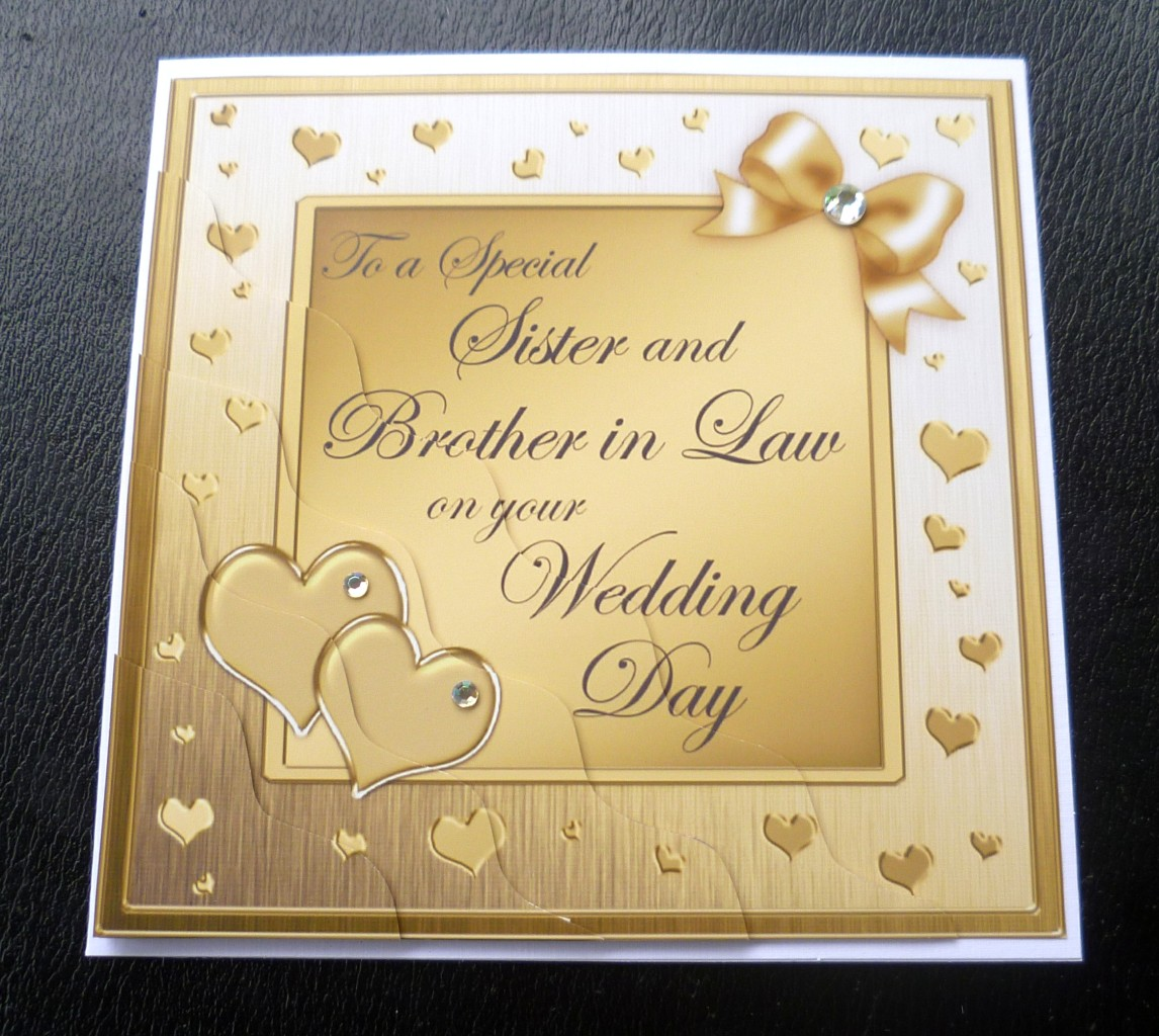 Sister & Brother In Law Wedding Day Card4 Colours eBay