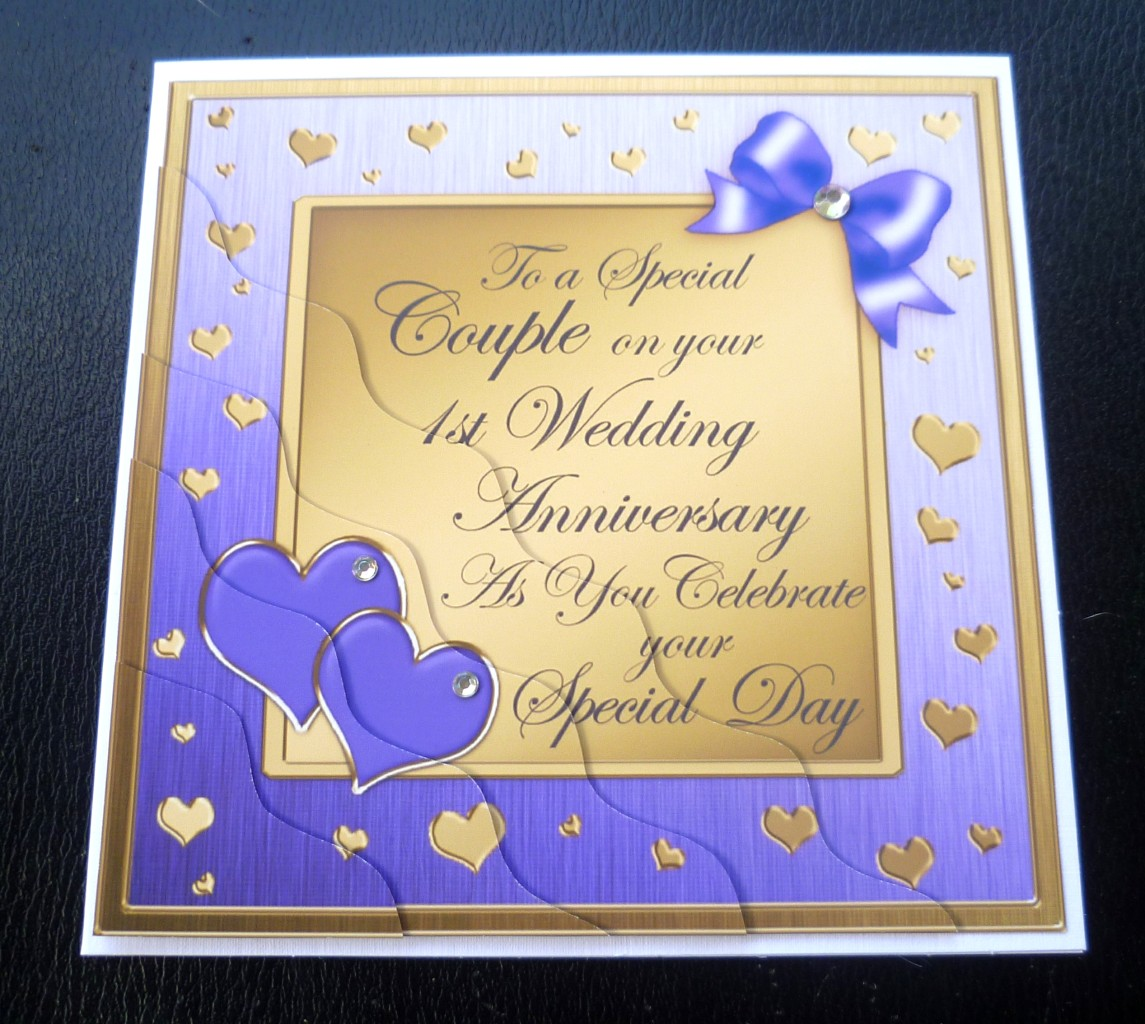 Special couple st wedding anniversary card colours ebay