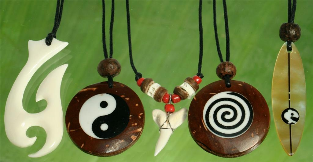 5X-Wholesale-Lot-Seashell-Bone-Yin-Yang-Necklace-RRP-65