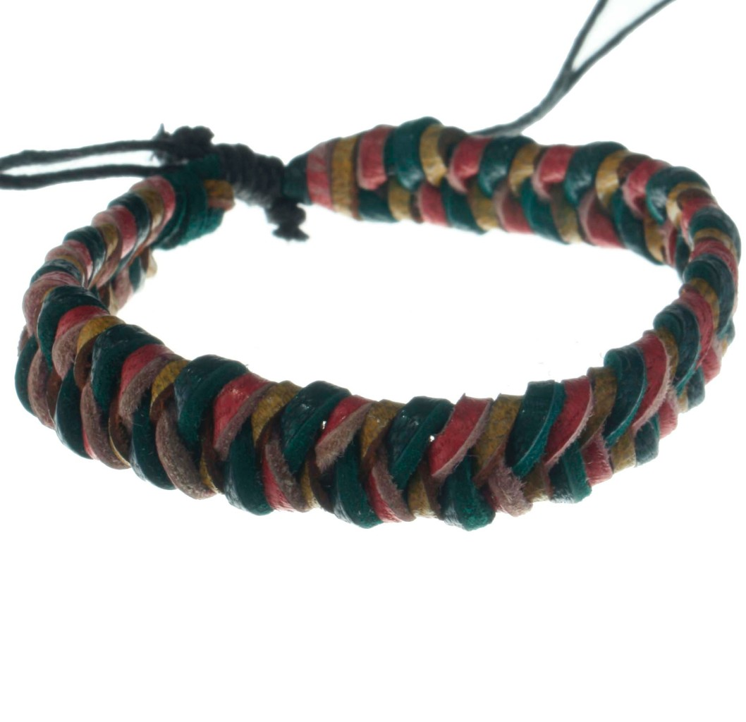 Leather-Braided-Dark-Colours-Surf-Bracelet-Anklet-B2