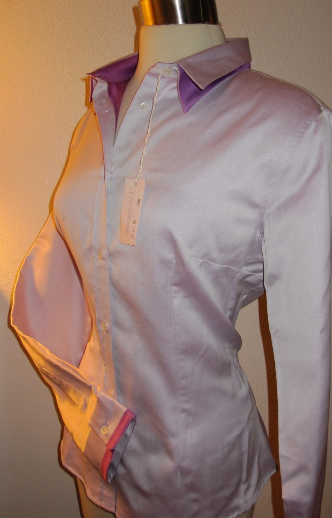Naracamicie-Italy-Double-Collar-Career-Shirt-New-200-Stretch-Button-Front-Top