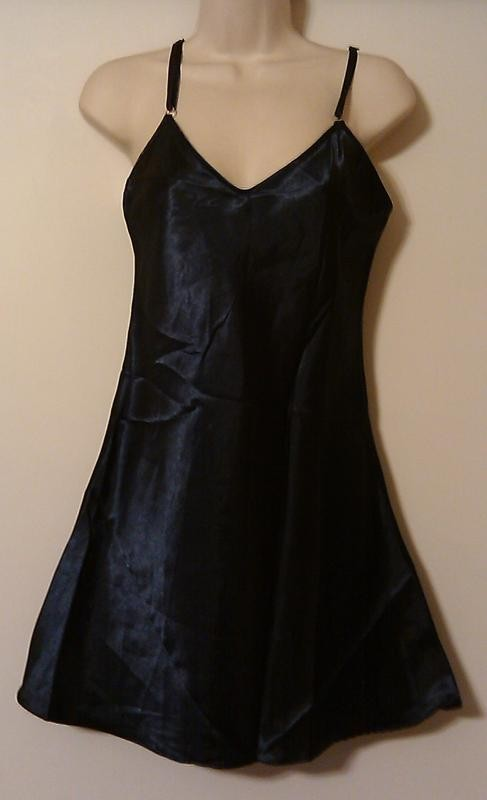 Sexy-Silky-Satin-Slip-Nightgown-Lingerie-Nightie-New