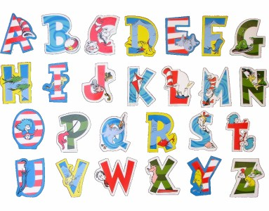 Sweet image regarding dr seuss letters printable