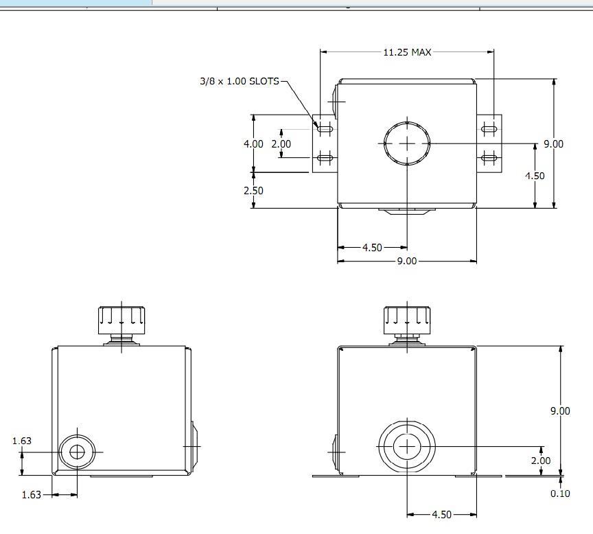 hydraulic log splitter tank oil reservoir 2 8 gallon steel