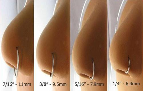 Septum Ring Diameter Sizes