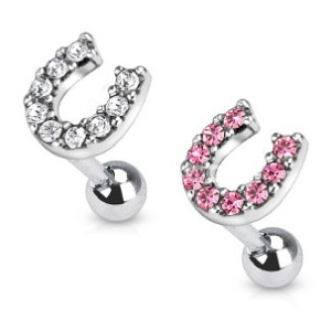 316l surgical steel ear cartilage piercing earring ring