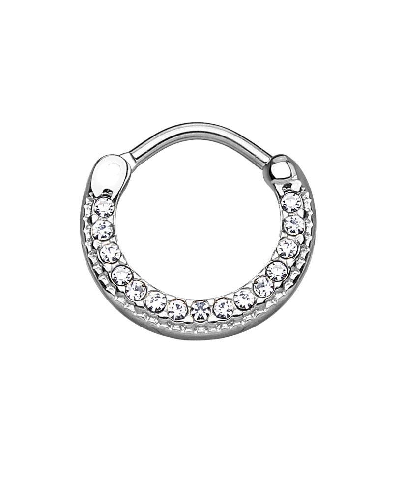 100-Surgical-Steel-Septum-Clicker-Nose-Ring-Ear-Cartilage-CZ-5-16-034-16G