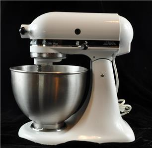 Kitchen Aid Classic Plus Household Mixer Model Ksm75wh 275 Watts Very Good Ebay