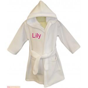 peignoir enfant a personnaliser blanc 6 mois 3 ans pr nom demoiselle d 39 honneur ebay. Black Bedroom Furniture Sets. Home Design Ideas