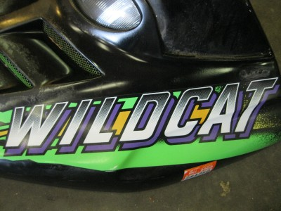 1996 Arctic Cat Wildcat http://www.ebay.com/itm/1996-Arctic-Cat-Wildcat-700-Twin-Hood-Used-Snowmobile-/310343017502