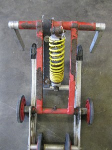 Used Team Fast M 10 Rear Suspension Skid Fox Shocks Red M10 Snowmobile